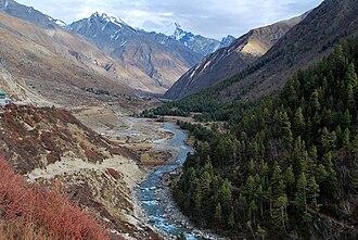 Baspa River - Baspa River flowing next to Chitkul
