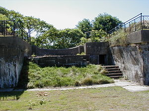 Fort Standish (Boston, Massachusetts) - A 3-inch gun emplacement of Battery Williams at Fort Standish.