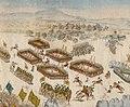 Battaile bey Fokschan zwischen dem Gen der Caval Prinz Fried Sachsen Coburg u dem Dervisch Mohmet detaliu 2.jpg