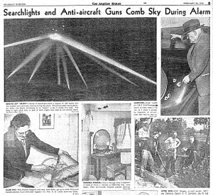 Battle of Los Angeles - Photos from Los Angeles Times, 26 February 1942