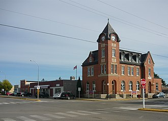 Battleford - Post office in downtown Battleford