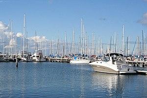 Royal Geelong Yacht Club - Boats moored in the Bay City Marina
