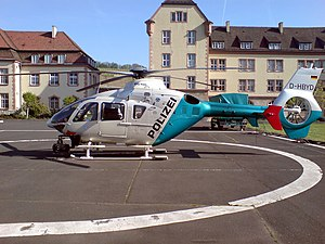 Bavarian State Police - A Eurocopter EC-135 police helicopter of the Bavarian Police
