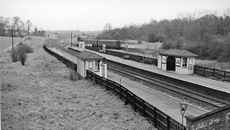 Bayford railway station - Bayford Station in 1961