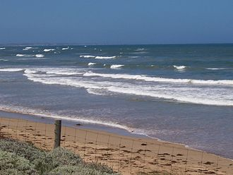 Bellarine Peninsula - Ocean Grove beach on Bass Strait