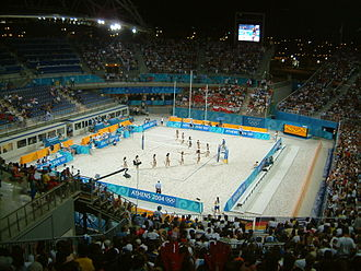 Faliro Olympic Beach Volleyball Centre - During the 2004 Olympics