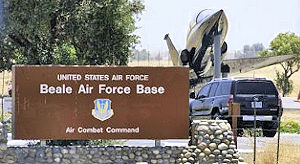 Beale Air Force Base - Main Gate sign