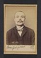 Beaufort. Gilbert. 32 ans, né à Paris Xle. Ébéniste. Anarchiste. 5-3-94. MET DP290129.jpg