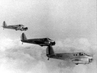 Columbus Air Force Base - Formation of Beechcraft AT-10s