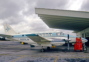 Mackey Airlines - Mackey International Air Commuter Beech 99 Airliner at Fort Lauderdale in February 1971.