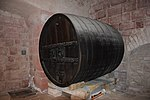 Beer barrel inside Haut-Koenigsbourg castle.JPG