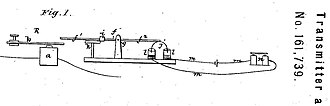 Elisha Gray - Image: Bell's drawing for Patent 161739 granted by U.S. PTO in April 1875