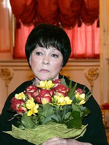 Bella Akhmadulina at the Russian State Prize ceremony in 2005