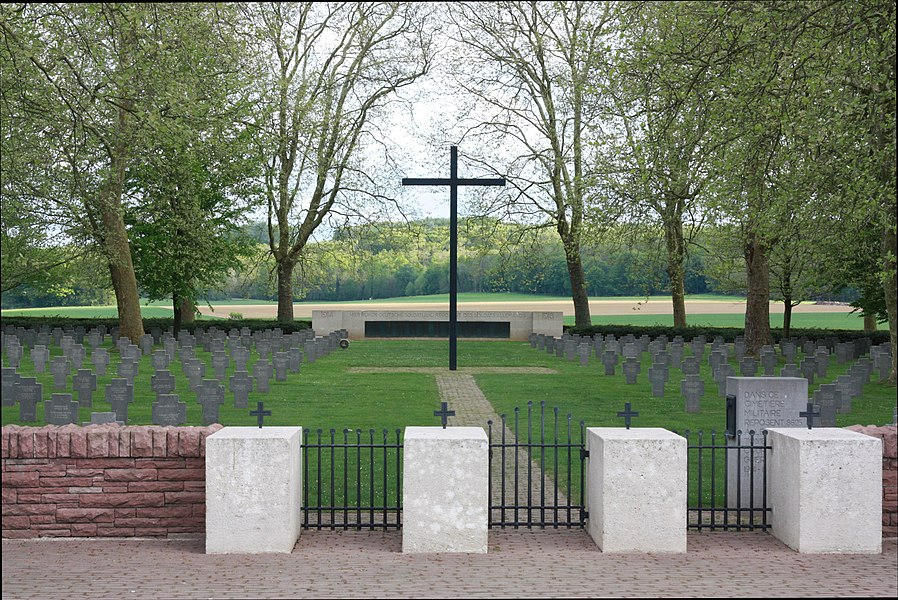 German cemetary in Belleau, Aisne, France