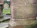 Bench Mark on St. Peter's Church, Plemstall - geograph.org.uk - 698836.jpg