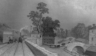 Berkhamsted railway station - The original Berkhampstead (sic) railway station as seen in 1838