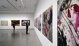 """Moshe Gershuni - Pintings from the 1980s, View at """"Moshe Gershuni. No Father No Mother"""" (2014) exhibition at the Neue Nationalgalerie, Berlin, Germany"""
