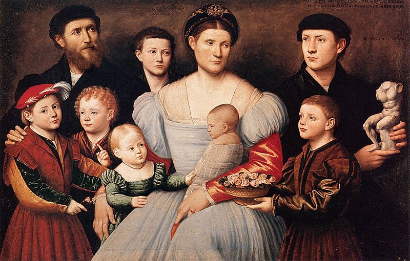 File:Bernardino Licinio - Portrait of Arrigo Licinio and His Family - WGA12984.jpg