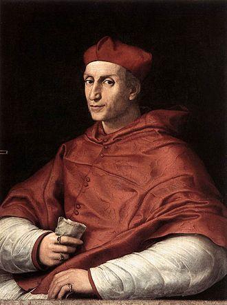 Bernardo Dovizi - Portrait of Cardinal Bibbiena by Raphael