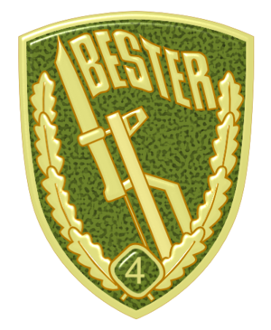 Border Troops of the German Democratic Republic - Bestenabzeichen (enamel breast badge) (1986–1990)