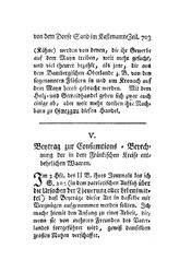 Beytrag zur Consumtions-Berechnung der in dem Fränkischen Kreise entbehrlichen Waaren, S. 703-710
