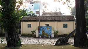 Tiếng Việt: Bia ông hổ, đình thông tây hội, gò vấp