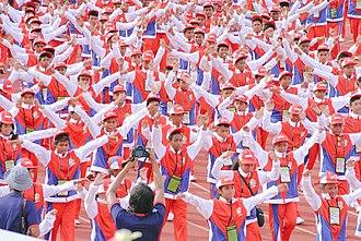 Ethnic groups in the Philippines - Image: Bicol Region delegates during Palarong Pambansa 2015 Opening Ceremony