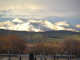 Big Belt Mountains - Image: Big Belts snowcapped
