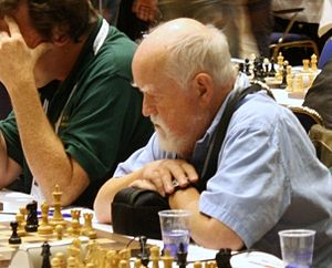 English: Chess master Bill Hook, British Virgi...
