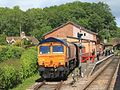 Bishops Lydeard - GBRf 66763 outside goods shed.JPG