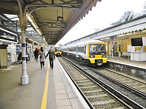 Blackheath railway station - Image: Blackheath Station, trains (geograph 4406051)