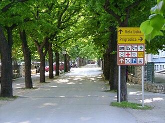Blato, Korčula - Lipa avenue in Blato, Korčula.