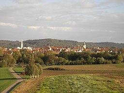 Blick von der Zipfelbachtalbrücke nach Winnenden