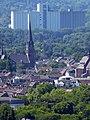 Blick vom Gasometer Oberhausen auf die Kath. Kirche St. Josef in Oberhausen – Styrum, rechts die Kapelle Vincenzhaus OB-Styrum - panoramio.jpg