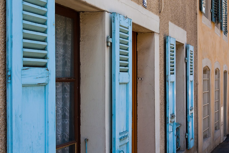 Blue Shutters -- A house in Ferney-Voltaire, France.