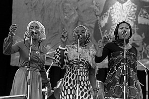 Bob Marley and the Wailers - The I Three from left to right: Judy Mowatt, Rita Marley, and Marcia Griffiths