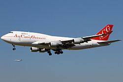 Boeing 747-400F der Air Cargo Germany