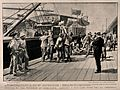 Boer War; wounded soldiers being lifted off a hospital ship Wellcome V0015606.jpg