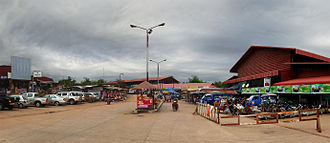 Pakxan - The market in Pakxan