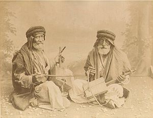 Visual arts in Israel - Félix Bonfils Beduin violin players, 1880s