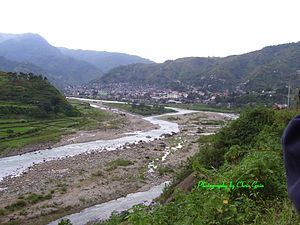 Cordillera Central (Luzon) - Chico River at Bontoc, capital of Mountain Province, the Philippines