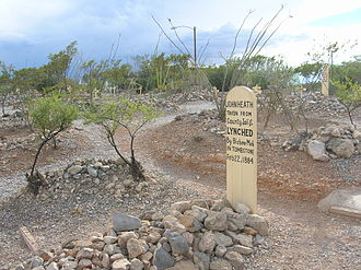 Bisbee massacre - The grave marker for John Heath at the Boothill Graveyard in Tombstone, Arizona