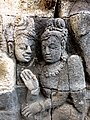 Borobudur - Divyavadana - 077 N, Rudrayana after his Ordination (detail 6) (11706031085).jpg