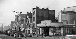 Borough tube station - Station entrance in 1961