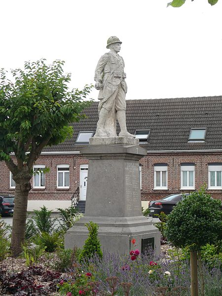 The war memorial in Borre (Nord, France).