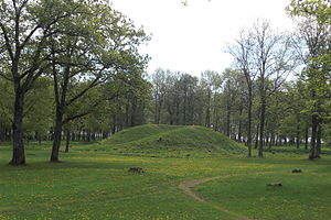Borre mound cemetery - Burial mound  in the Borre National Park