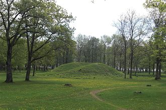 Borre mound cemetery - Burial mound in Borre National Park.