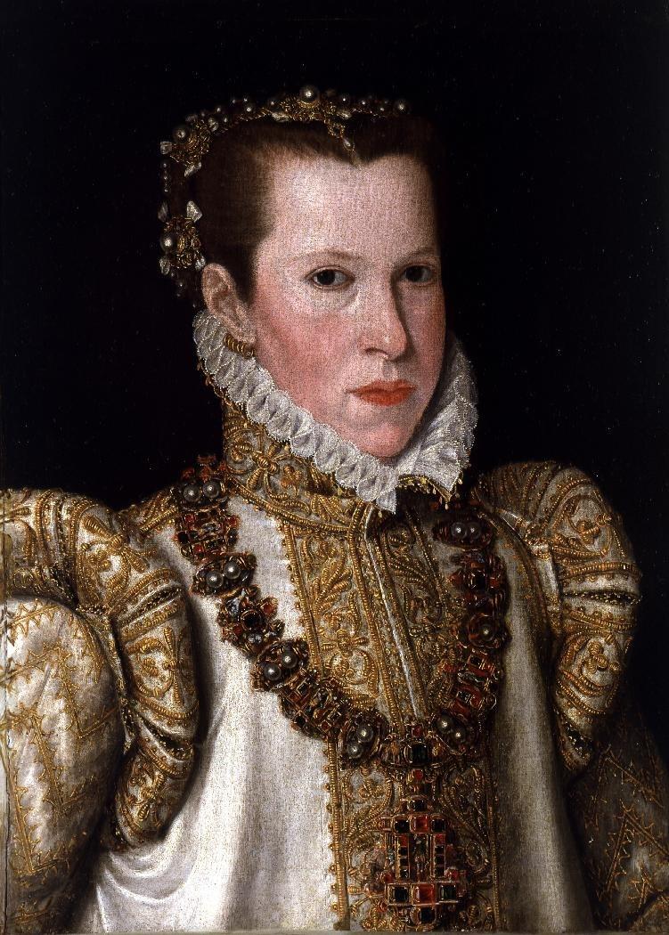 Bottega di Anthonis Mor - Ritratto di Maria di Portogallo