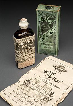 Bottle of Huxley's 'Ner-Vigor', England, 1892-1943 Wellcome L0058547