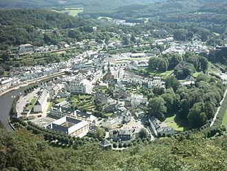 Bouillon - A view over Bouillon